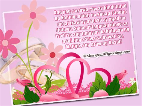 Wedding Congratulations In Tagalog by Tagalog Wedding Wishes 365greetings