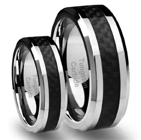 mmmm tungsten carbide wedding band ring set