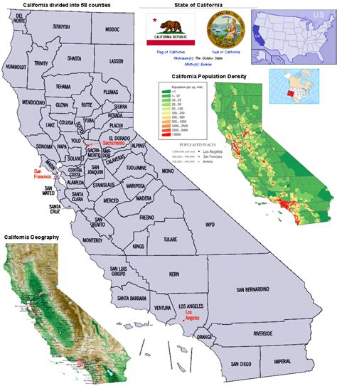 california map by population california california s counties population density and
