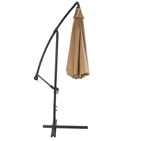 Portable Patio Umbrella Offset Portable Hanging Umbrella 10 Outdoor Heavy Duty Fabric Patio Pool Ebay