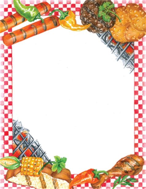 17 BBQ Border Template Images - BBQ Party Clip Art Border ... Bbq Border Clip Art Free