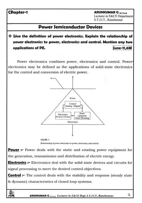 Power Electronics Notes By Arun Kumar Pdf Free Download