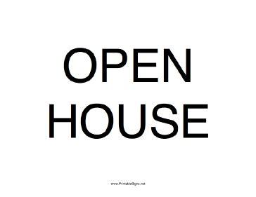 printable open house sign printable open house sign