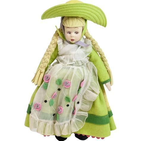 lenci mascotte doll 1930s italian felt lenci mascot size doll with