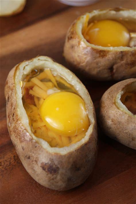 Baked Egg Potato an idaho egg stuffed baked potatoes our best bites