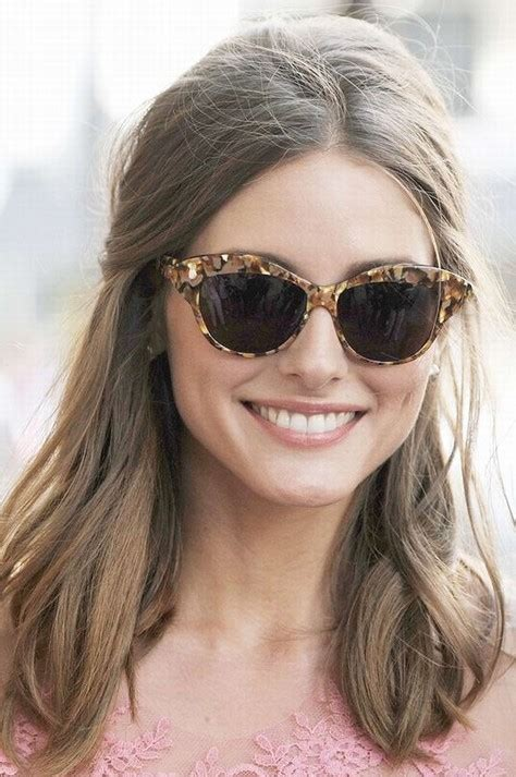hairstyles for cat eye glasses olivia palermo hairstyles stylish half up half down