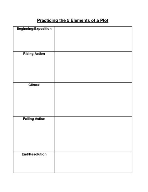 Story Element Worksheets by 16 Best Images Of Identifying Plot Worksheets Setting