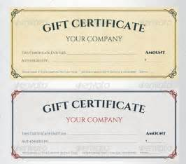 Gift Certificate Template by Sle Gift Certificate Template 39 Documents