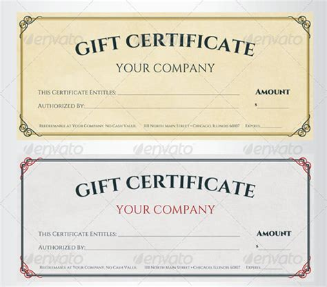template of gift certificate sle gift certificate template 39 documents