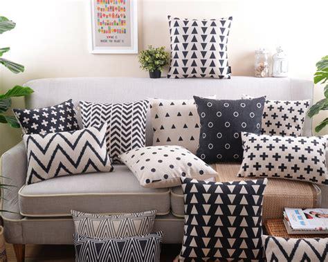 aliexpress com buy decorative pillows retro decorative pillow black and white geometric home