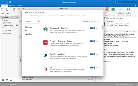 Outlook Has Some New Partner Integrations And Outlook For Mac 2016 Now Supports Add Ins On Msft Outlook Templates Mac