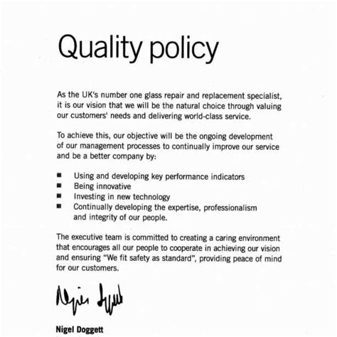 template of quality policy iso 9001 quality policy statement exle iso 9000 quality manual template intended for iso 9001