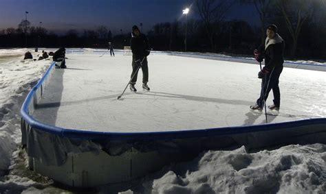 backyard hockey rinks
