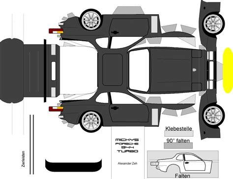 Papercraft Car Templates - paper model rennlist porsche discussion forums