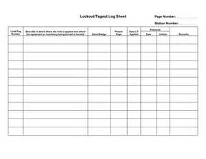 Lock Out Tag Out Procedures Template by Lockout Tagout Log Sheet Template In Word And Pdf Formats