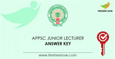 appsc junior lecturer answer key    appsc jl key