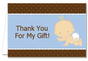 baby shower thank you cards baby boy caucasian thank you notes