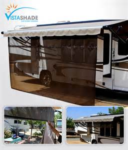 awnings for rv rv awning screen shades keep cool with a vista shade