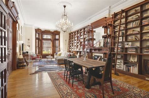 york house interiors spectacular park slope pad with bookshelf lined walls asks 1 5 million 6sqft