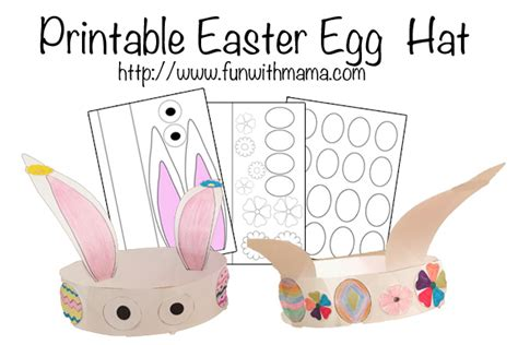 printable easter egg and bunny hat fun with mama
