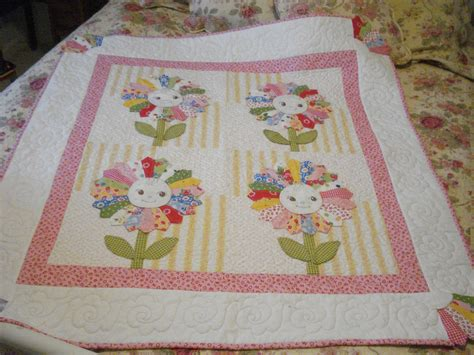 Pink Pincushion Bqf Baby Quilt Entry Sunflower Baby Crib Quilts