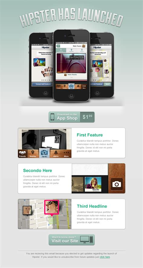 App Launch Email Template Design A Clean Launch Email For A Mobile App