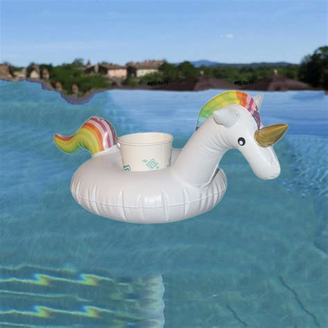 inflatable boat unicorn unicorn pool party tub inflatable bottle cup holder drink