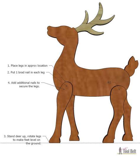 printable reindeer legs diy wood reindeer her tool belt