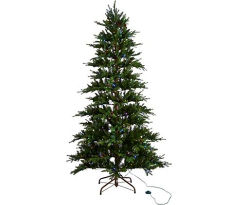 ellen degeneres christmas trees ed on air santa s best 7 5 rustic spruce tree by degeneres page 1 qvc