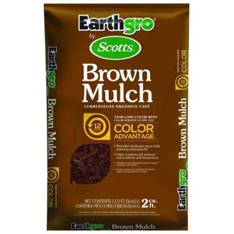 scotts earthgro 2 cu ft brown mulch 647185 the home depot