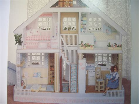 free pattern doll house fashion doll house in plastic canvas pattern book by annen