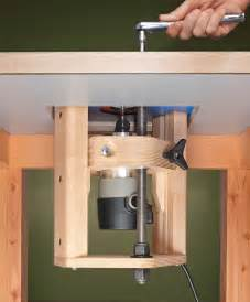 router jig router lift woodworking project woodsmith