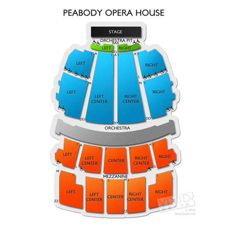 peabody opera house seating peabody opera house tickets peabody opera house