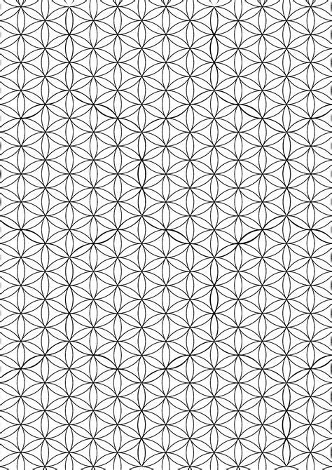patron flor de la vida lineas flower of life pattern lines