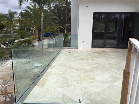 Tempered Glass Railing tempered glass railing rancho santa fe patriot glass and mirror san diego ca