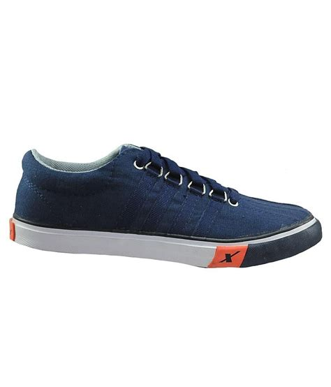 buy sparx trendy blue canvas shoes for snapdeal