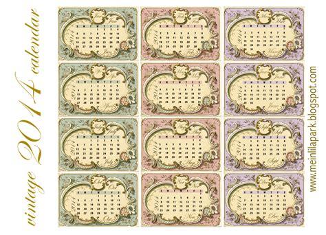printable calendar vintage free printable 2014 vintage calendar cards ausdruckbare