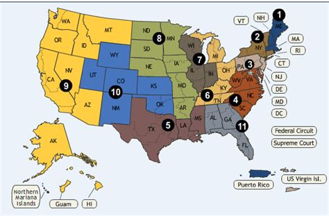 united states circuit courts map copyright litigation federal circuit courts of