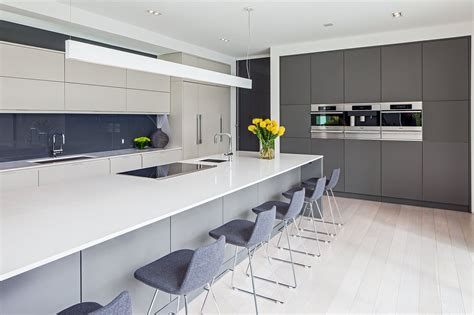 white and grey kitchens modern white and grey kitchen kitchen and decor