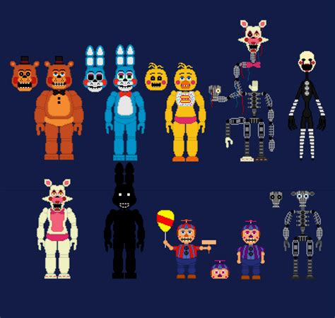 Tshirt Evolution Chap fnaf 2 animatronics by promtheman360003 on deviantart