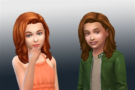sims 4 kids hair my stuff med wavy conversion for kids