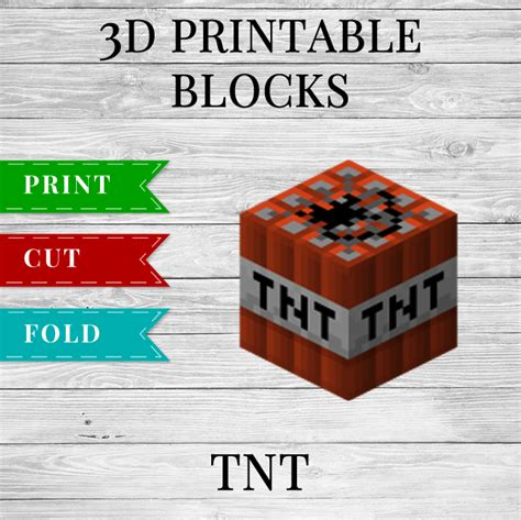 Minecraft Tnt Block Template by Tnt Printable Minecraft Tnt Block Papercraft Template