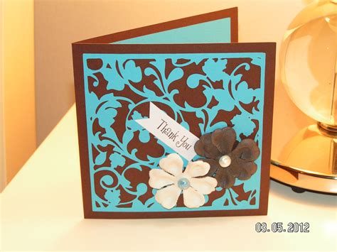 cricut card thank you card southern cricut
