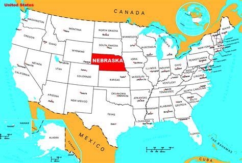 location map omaha ne where is nebraska state where is nebraska located in the