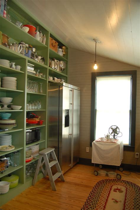 Pantry Green by Open Shelving Ideas For The Kitchen Town Country Living