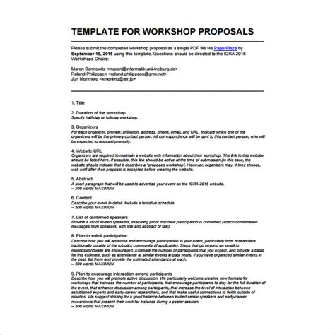 proposal format for conducting seminar 2 how to write a workshop proposal pdf free premium