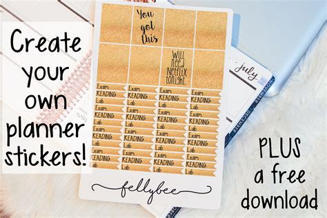 build your own planner create your own planner stickers quick and easy