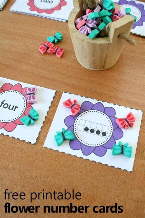 Used Gift Card Numbers - free printable flower theme number cards fantastic fun learning