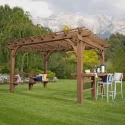 10 X 14 Pergola by Backyard Discovery 14 X 10 Oasis Pergola Cedar Stain