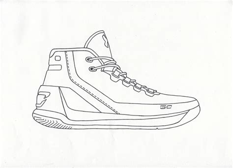 Curry 4 Sketches by Stephen Curry Coloring Drawing Foto 2017